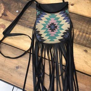 Handbags - Crossbody Aztec design with fringe purse 👛